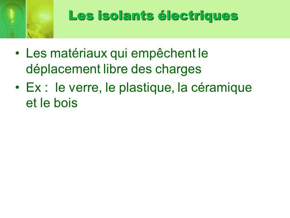 Les isolants électriques