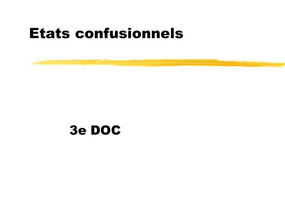 Etats confusionnels 3e DOC
