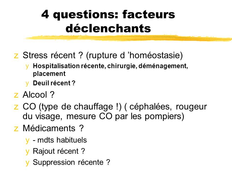 4 questions: facteurs déclenchants