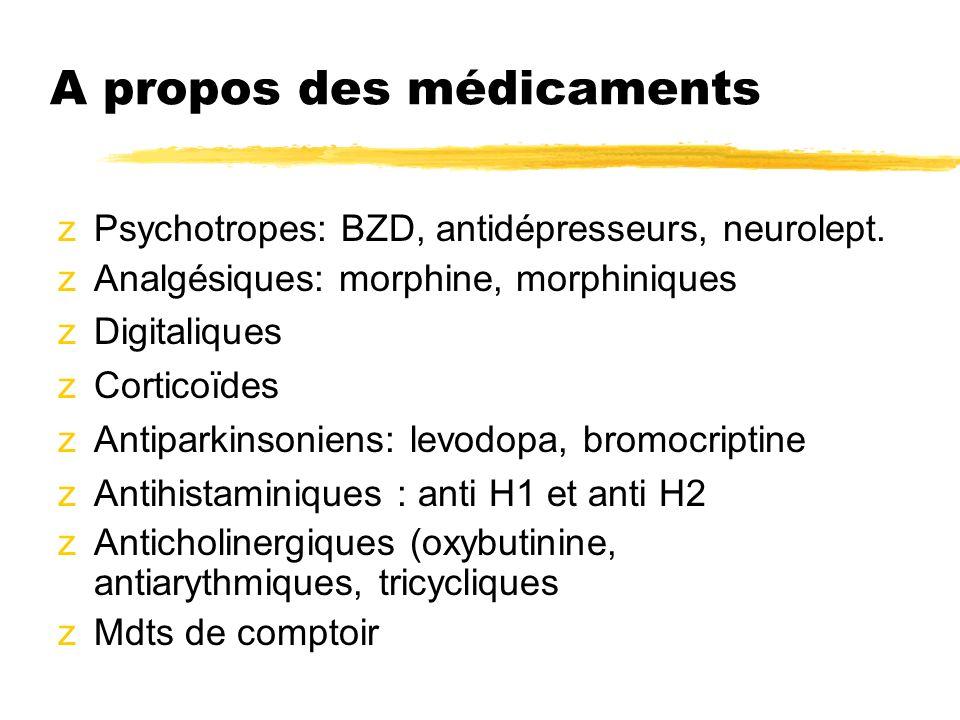 A propos des médicaments