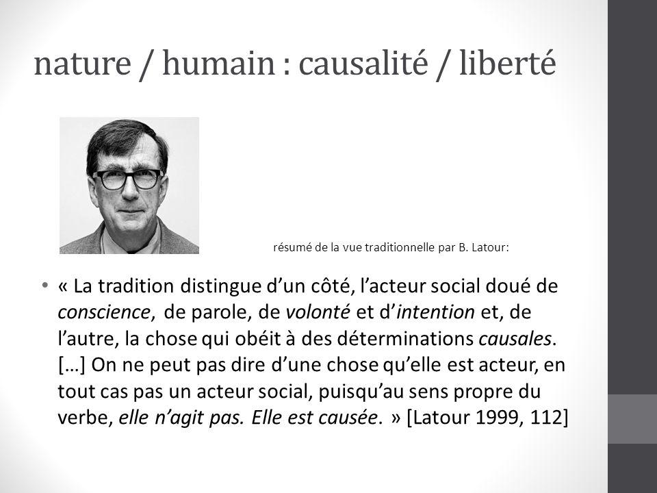 nature / humain : causalité / liberté