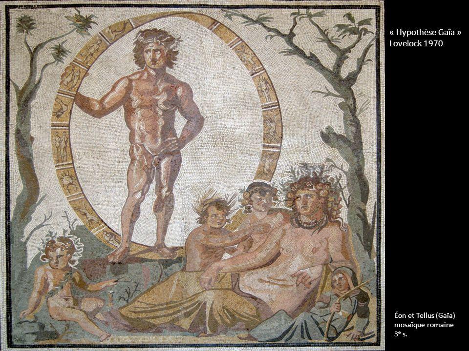 « Hypothèse Gaïa » Lovelock 1970 Éon et Tellus (Gaïa) mosaïque romaine