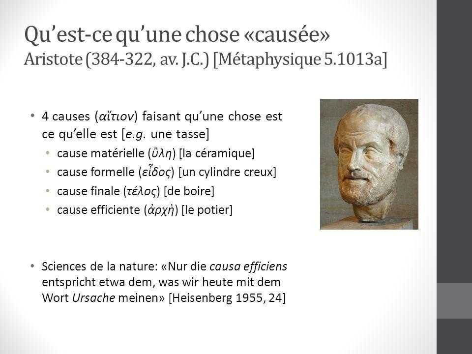 Qu'est-ce qu'une chose «causée» Aristote (384-322, av. J. C