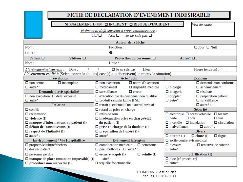 C LIMODIN /Gestion des risques/FEI/01-2011