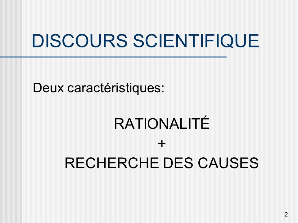 SCIENCES ET RATIONALITÉ