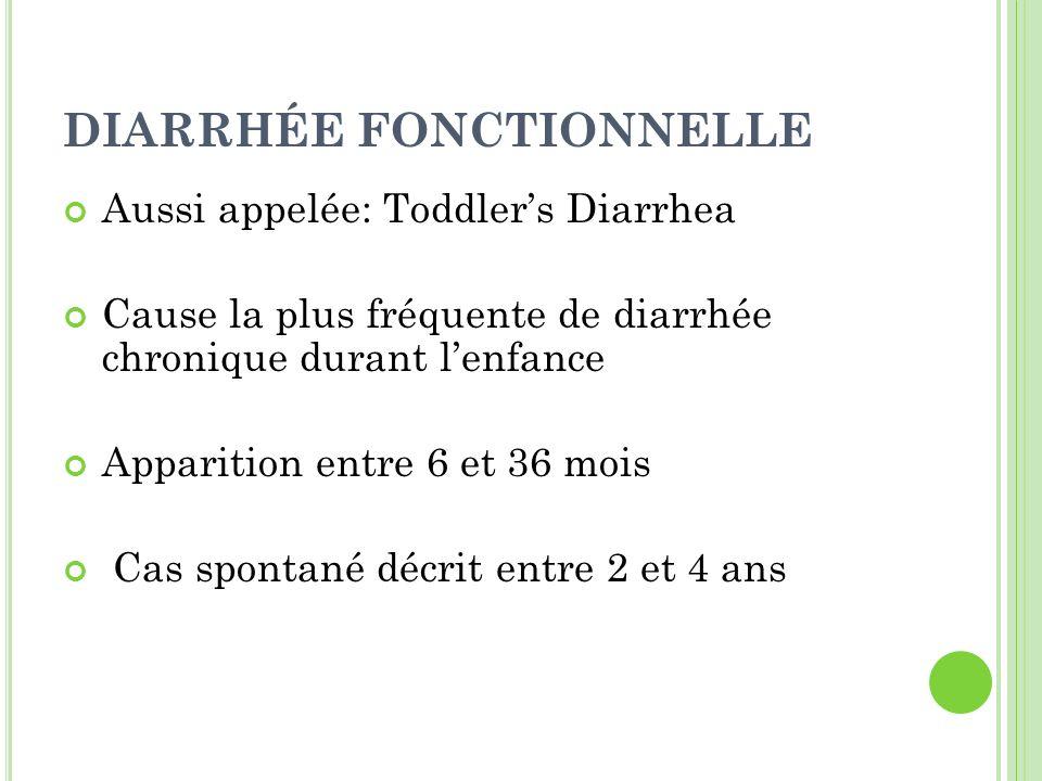 DIARRHÉE FONCTIONNELLE