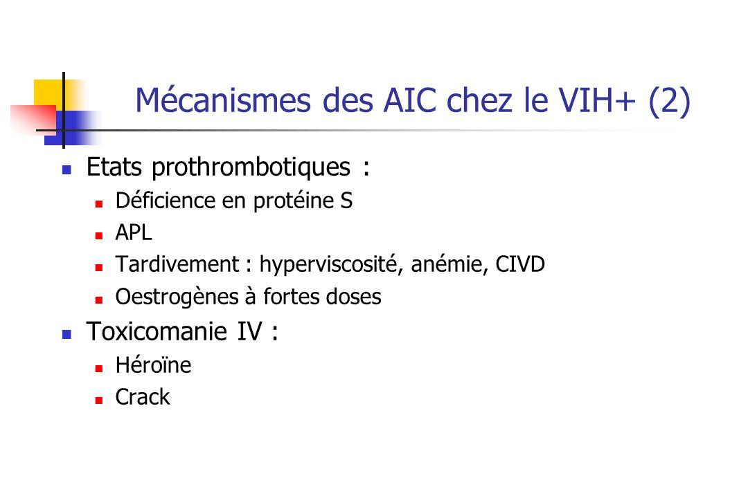 Mécanismes des AIC chez le VIH+ (2)