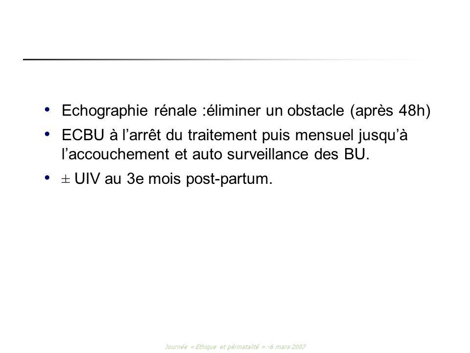 Journée « Ethique et périnatalité » -6 mars 2007