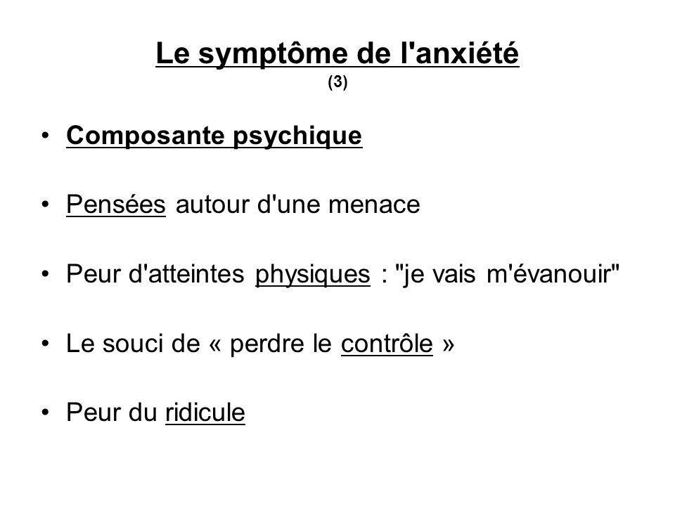 Le symptôme de l anxiété (3)