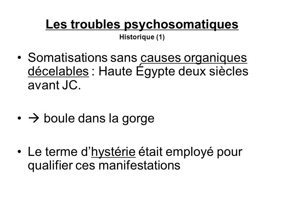 Les troubles psychosomatiques Historique (1)