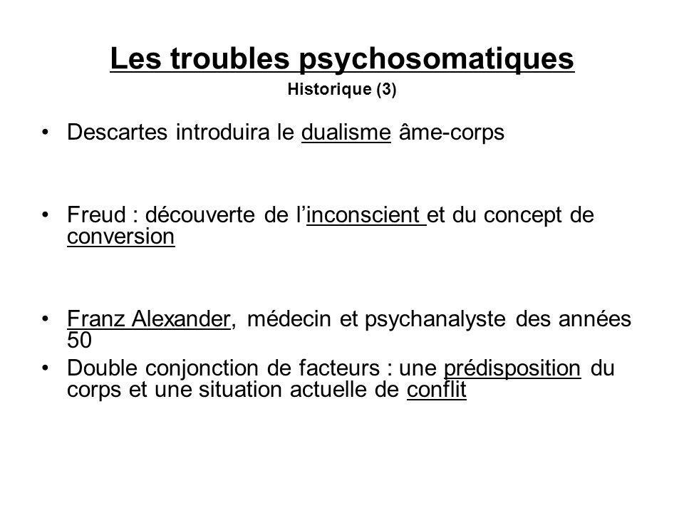 Les troubles psychosomatiques Historique (3)