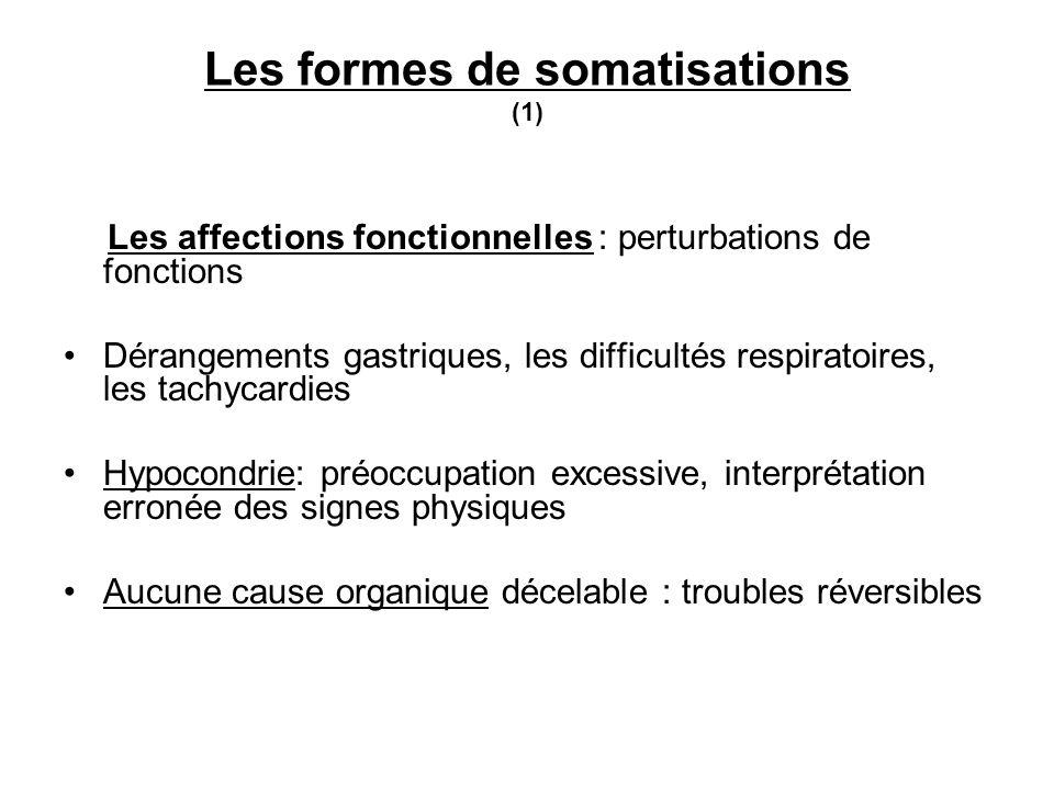 Les formes de somatisations (1)