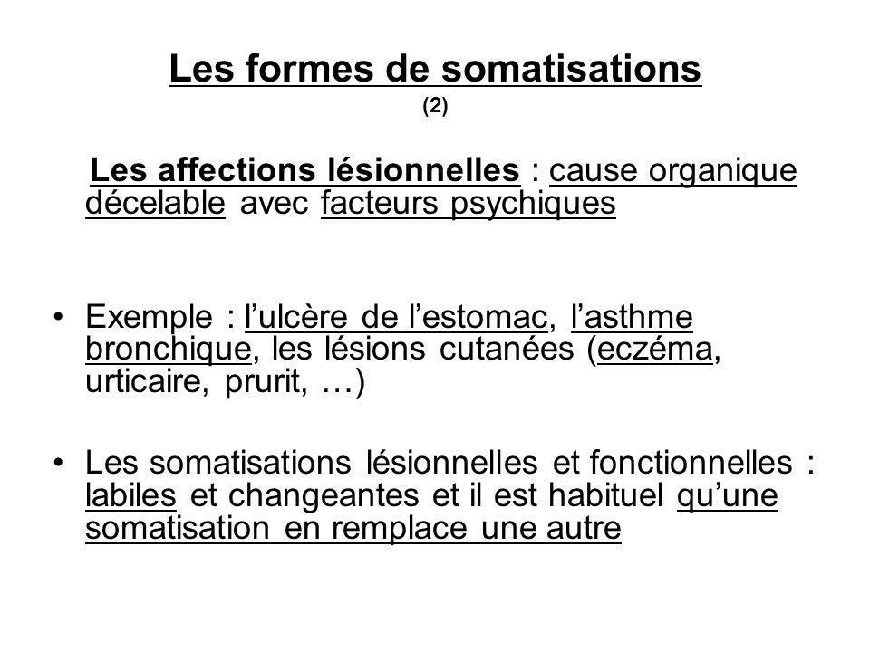 Les formes de somatisations (2)