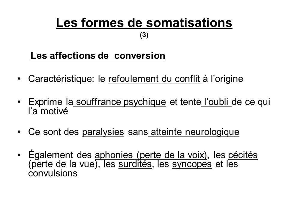 Les formes de somatisations (3)