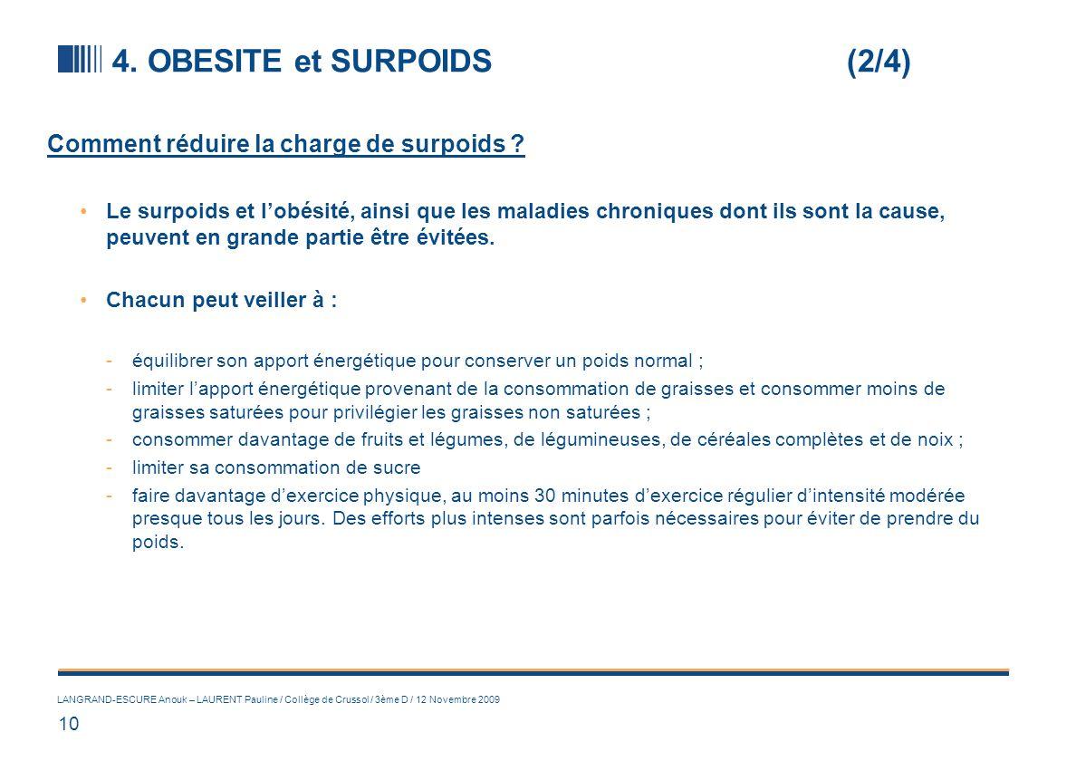 4. OBESITE et SURPOIDS (3/4)