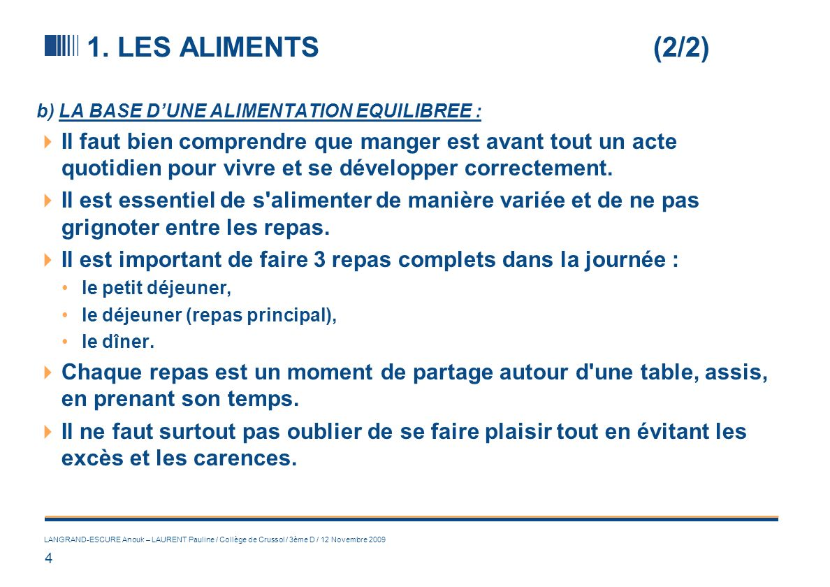 2. L'IMPORTANCE DE L'ACTIVITE PHYSIQUE