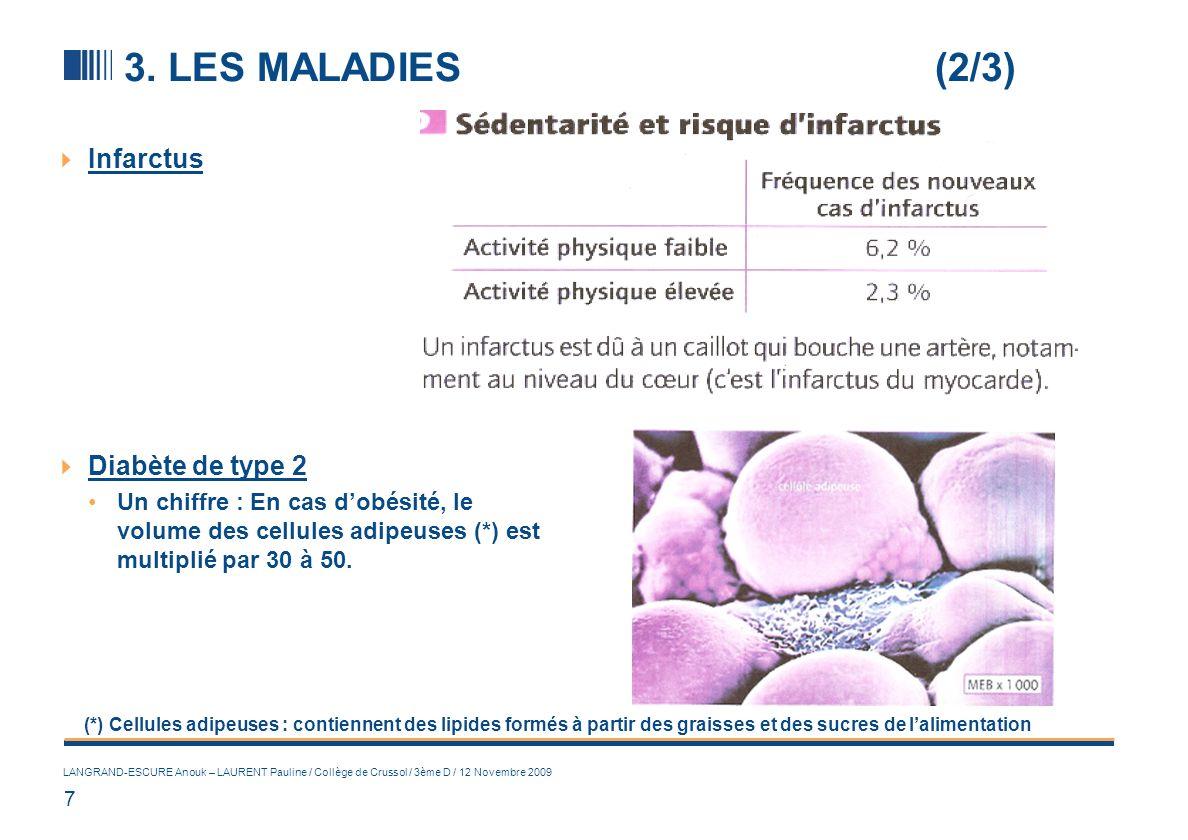 3. LES MALADIES (3/3) Le cancer
