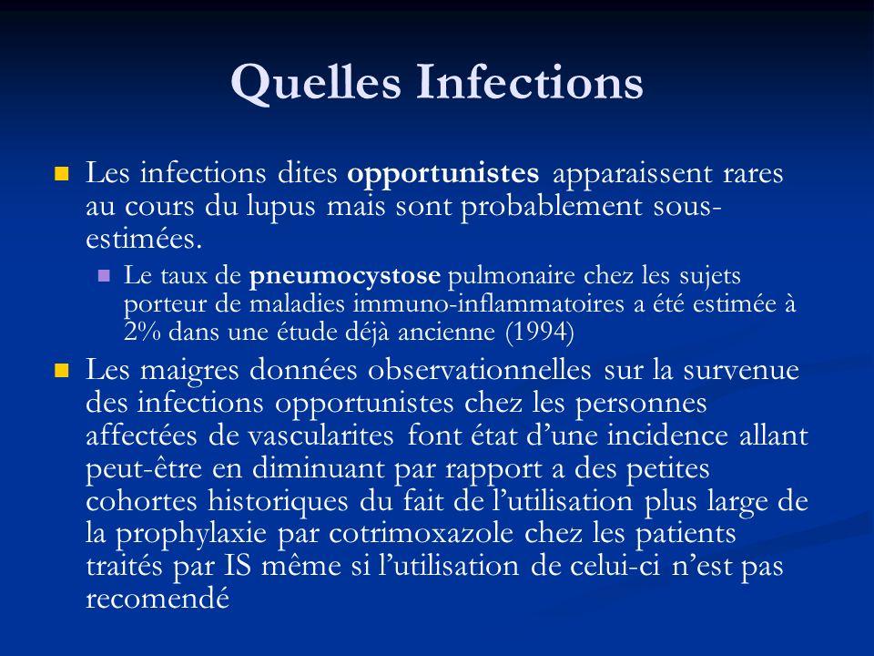 Quelles Infections Les infections dites opportunistes apparaissent rares au cours du lupus mais sont probablement sous-estimées.