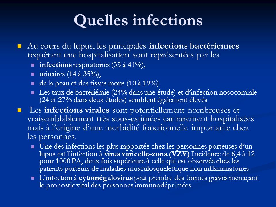 Quelles infections Au cours du lupus, les principales infections bactériennes requérant une hospitalisation sont représentées par les.