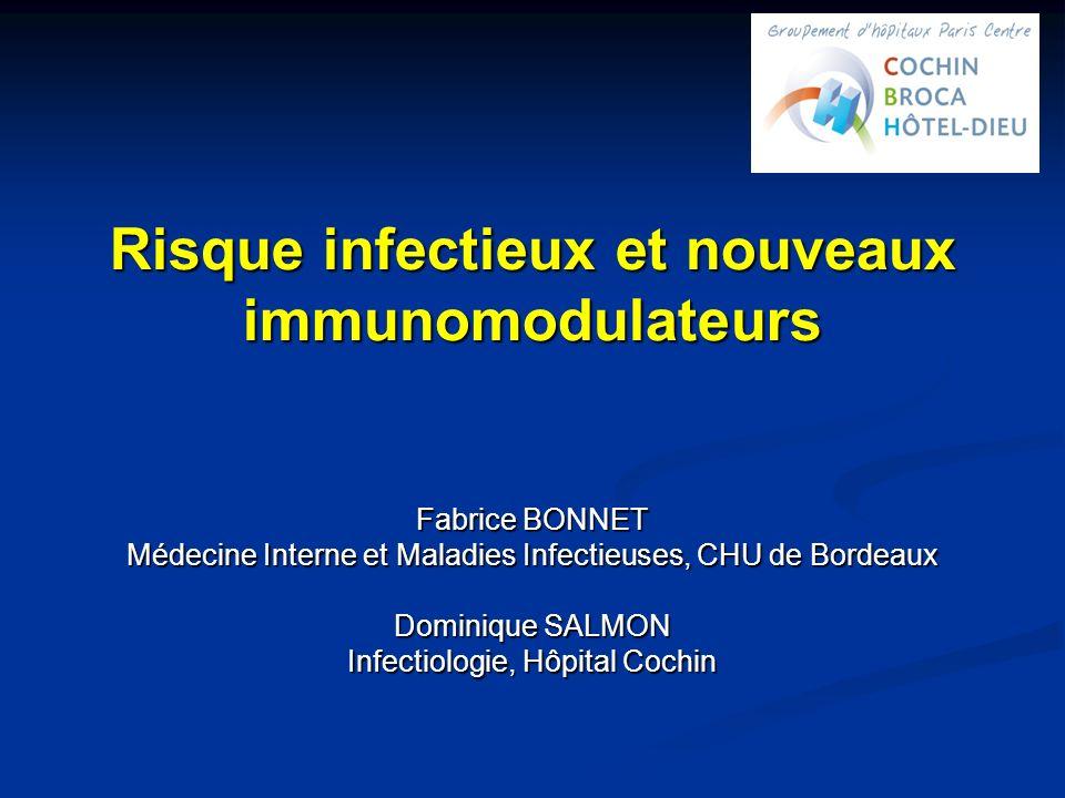 Risque infectieux et nouveaux immunomodulateurs