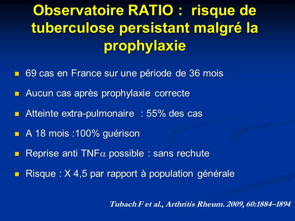 Tubach F et al., Arthritis Rheum. 2009, 60:1884–1894