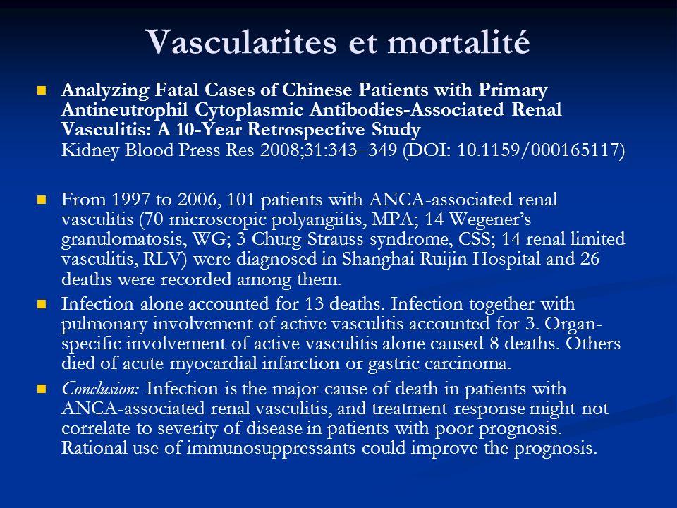 Vascularites et mortalité