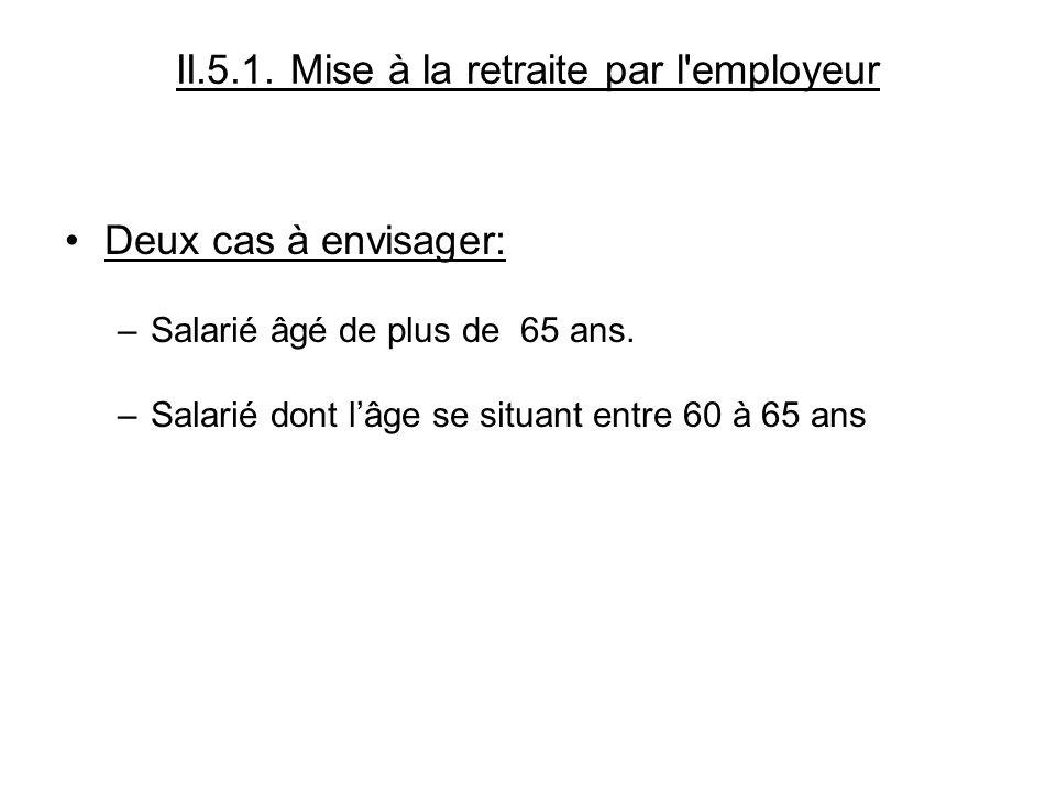II.5.1. Mise à la retraite par l employeur