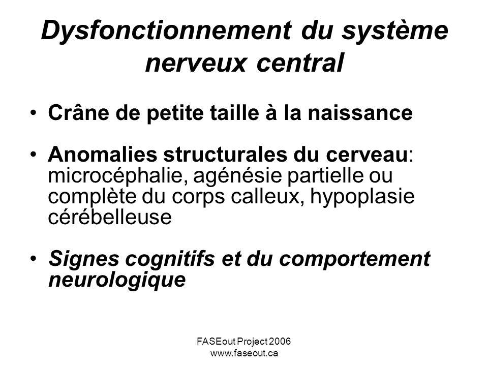 Dysfonctionnement du système nerveux central
