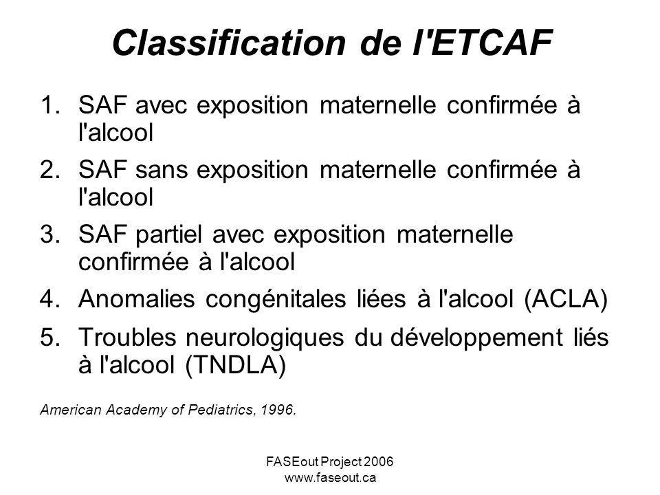 Classification de l ETCAF