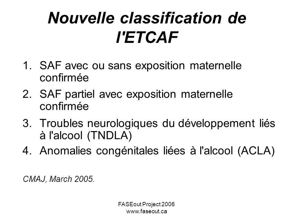 Nouvelle classification de l ETCAF