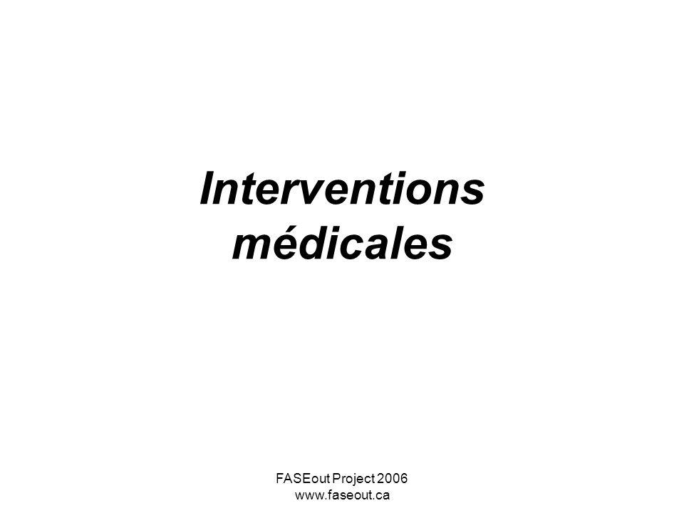 Interventions médicales