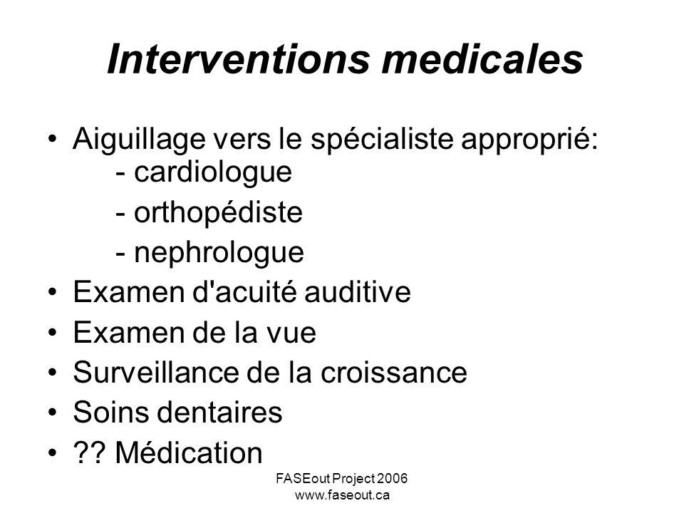 Interventions medicales
