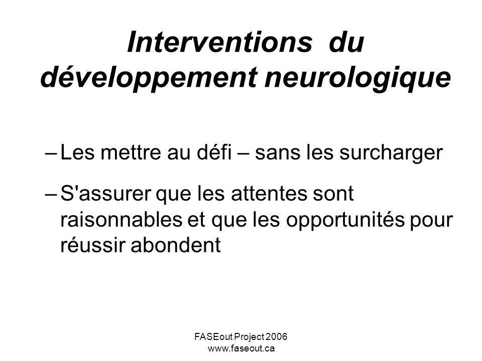 Interventions du développement neurologique