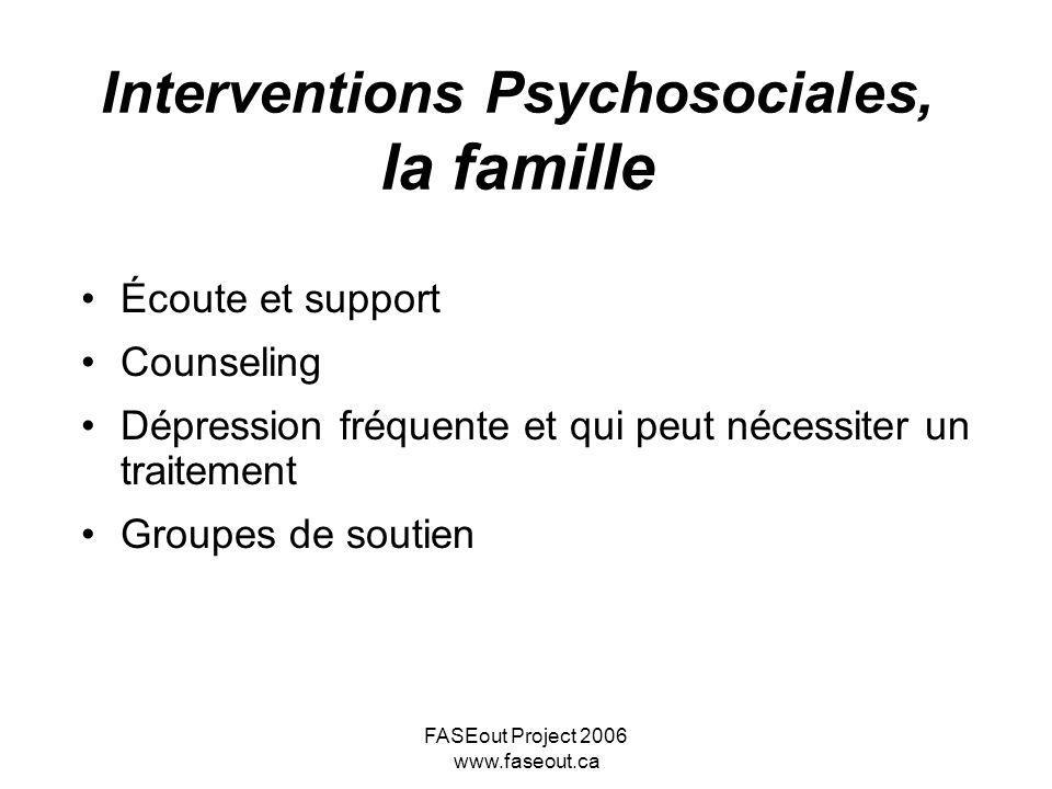 Interventions Psychosociales, la famille