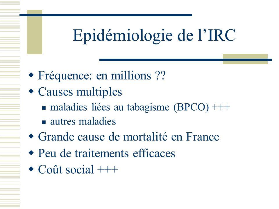 Epidémiologie de l'IRC