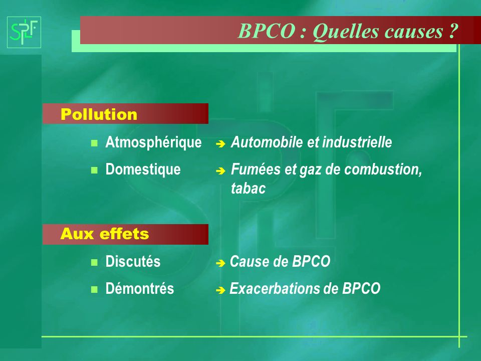 BPCO : Quelles causes Pollution