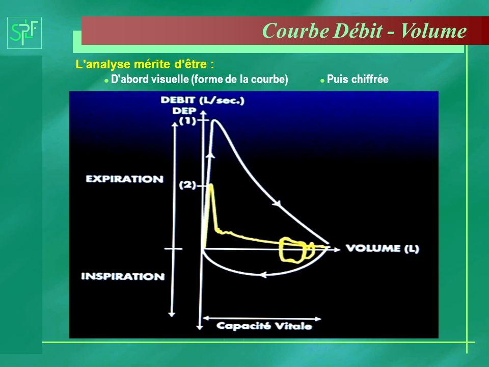 Courbe Débit - Volume L analyse mérite d être :