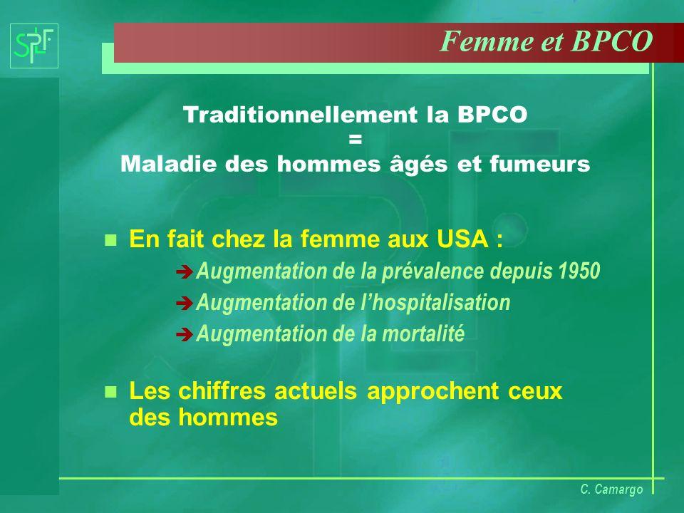 Traditionnellement la BPCO = Maladie des hommes âgés et fumeurs