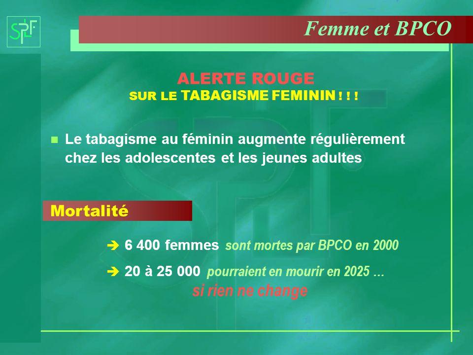 ALERTE ROUGE SUR LE TABAGISME FEMININ ! ! !
