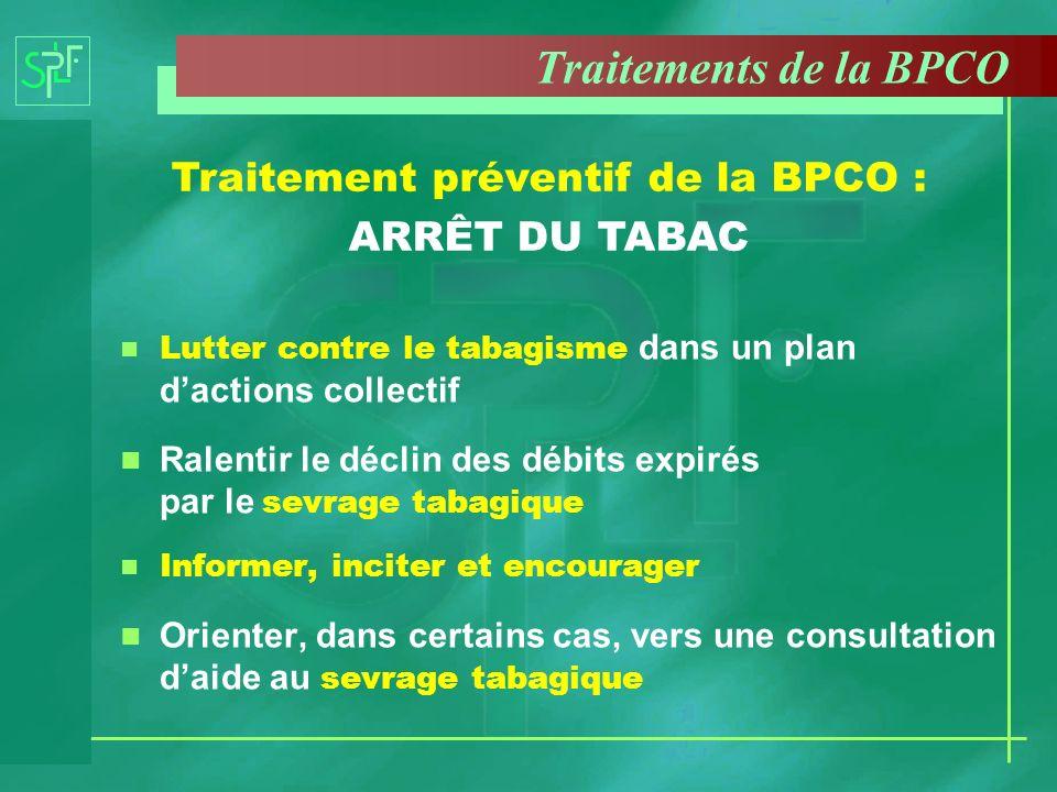 Traitement préventif de la BPCO : ARRÊT DU TABAC