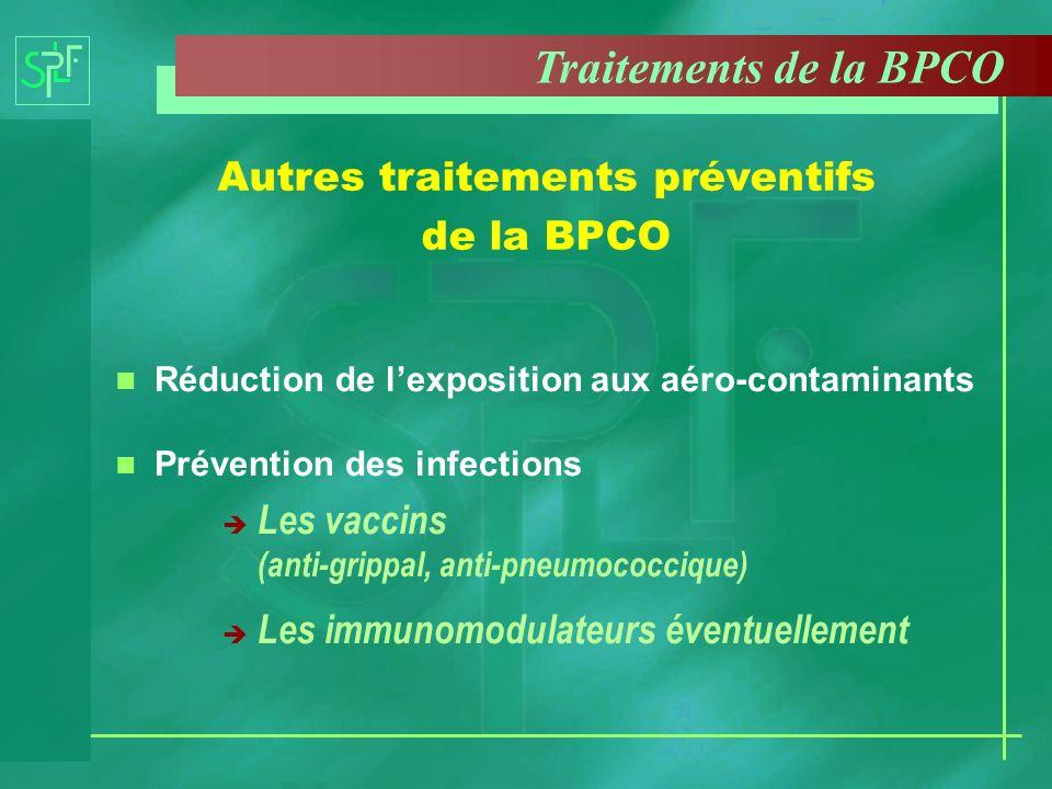 Autres traitements préventifs de la BPCO