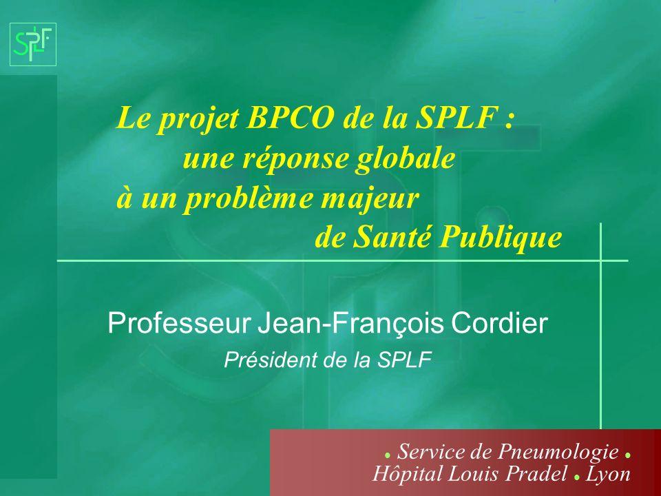 Professeur Jean-François Cordier Président de la SPLF