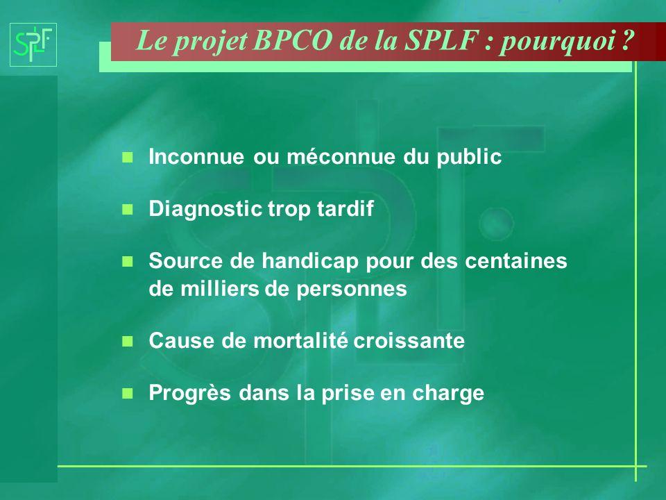 Le projet BPCO de la SPLF : pourquoi