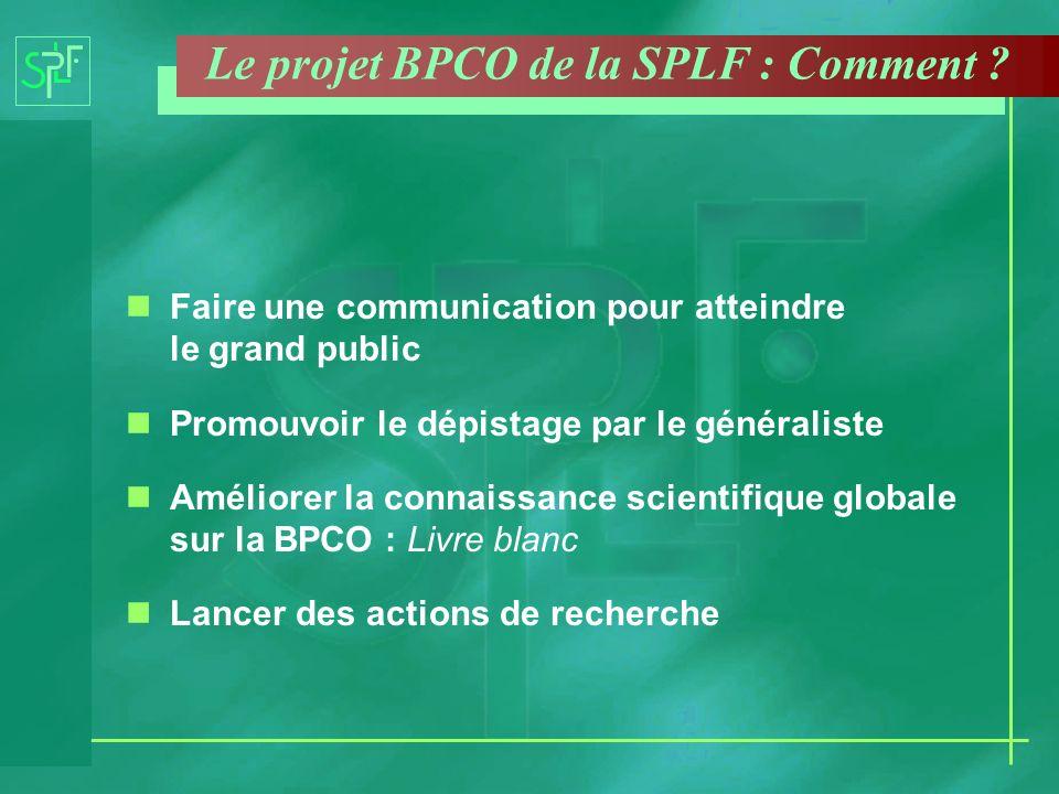Le projet BPCO de la SPLF : Comment