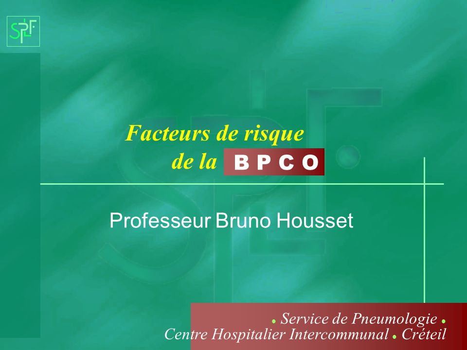 Professeur Bruno Housset