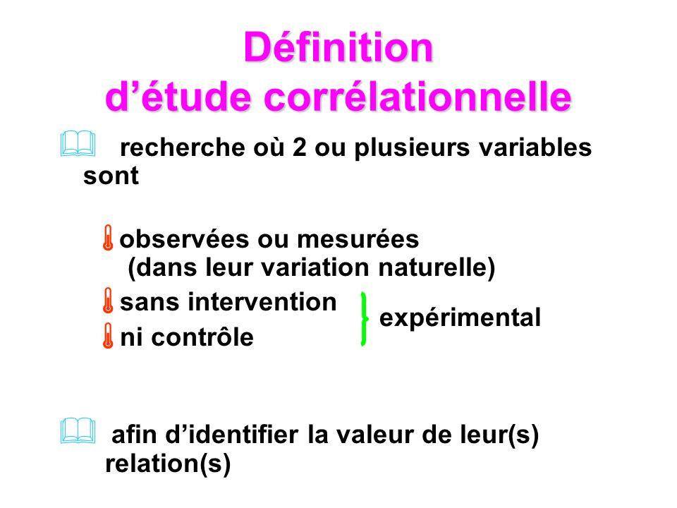 Définition d'étude corrélationnelle
