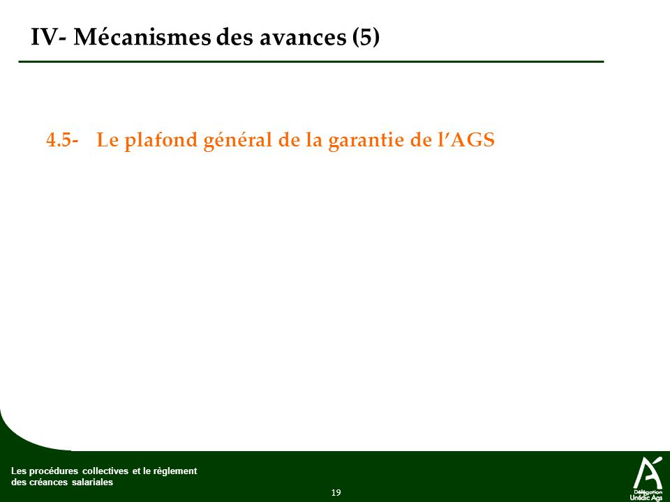 IV- Mécanismes des avances (5)