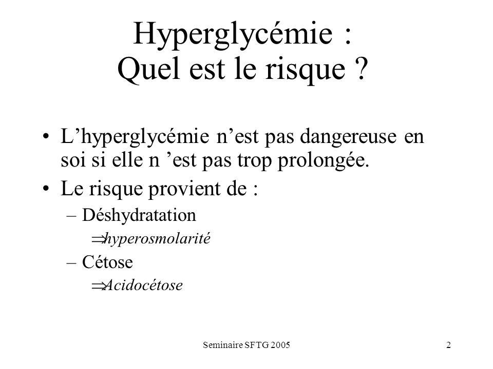 Hyperglycémie : Quel est le risque