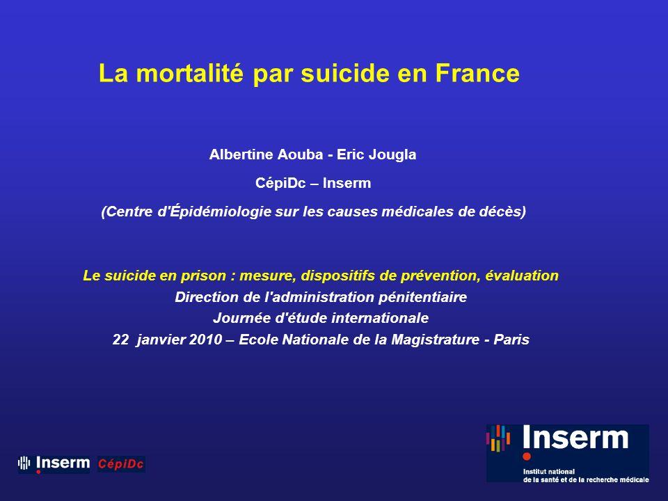 La mortalité par suicide en France