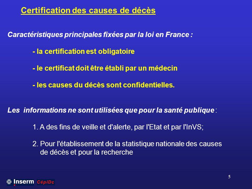 Certification des causes de décès